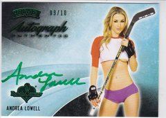 Andrea Lowell 2014 Benchwarmer Hockey Autograph card #12 Green #d 09/10