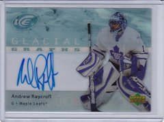 Andrew Raycroft 2007-08 Upper Deck Ice Glacial Graphs Autograph card GG-RA