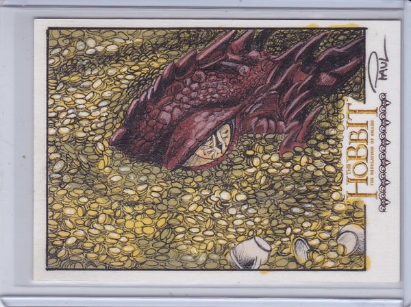The Hobbit The Desolation Of Smaug Paul Cowan Full Color Smaug Sketch 1/1