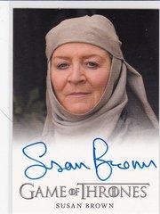 Game Of Thrones Season 4 Susan Brown as Septa Mordane Autograph card