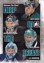 2010-11 Between The Pipes Deep In The Crease card DC-25 San Jose