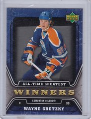 Wayne Gretzky 2006-07 Upper Deck Hockey All-Time Greatest Winners card ATG9