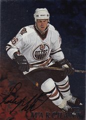 Todd Marchant 1998-99 Be A Player Autographed card # 55