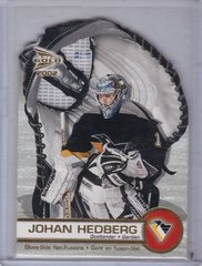 Johan Hedburg 2001-02 Prism Mcdonald's Glove-Side Net-Fusion card 5 Penguins
