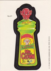 "1985 Topps Wacky Packages Sticker # 21 ""Mr. Clown"" Puzzle Back"