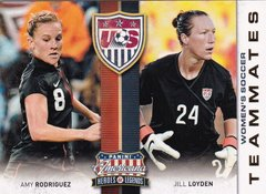 Amy Rodriguez Jill Loyden 2012 Americana Heroes & Legends Women's Soccer Teammates Insert card #4