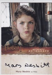 The Hobbit Desolation Of Smaug Mary Nesbitt as Segrid Autograph card MN