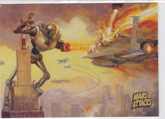 Mars Attacks Invasion card #19 Gold Parallel
