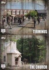 Topps Walking Dead Season 5 Locations Insert cards choose your number from the list