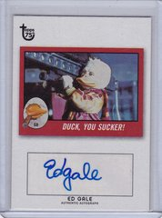 2013 Topps 75th Anniversary Ed Gale as Howard The Duck Autograph card