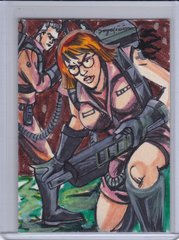 2016 Cryptozoic Ghostbusters Jojo Galicia Full Color Artists Sketch card 1/1