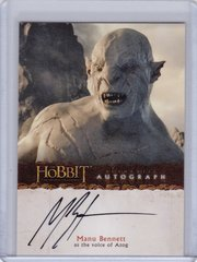 The Hobbit an Unexpected Journey Manu Bennett as the Voice of Azog Autograph A16