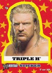 2005 Topps WWE Heritage Wrestling Sticker #7 of 10 Triple H