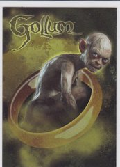 2014 Cryptozoic The Hobbit Foil Character Biography card CB-18 Gollum