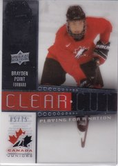 Brayden Point 2014-15 UD Team Canada Juniors Clear Cut Playing For A Nation card PFN-5 #d 05/75