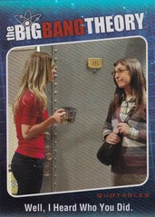 The Big Bang Theory Season 5 Trading Cards Quotables Insert card QTB-07