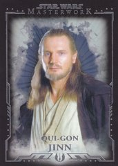 2015 Topps Star Wars Masterwork Base card #13 Qui-Gon Jinn