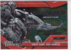 2007 Topps Transformers Movie Foil Insert card 6 of 10 Blackout