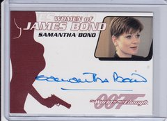 James Bond Archives Samantha Bond as Miss Moneypenny Autographed card WA37