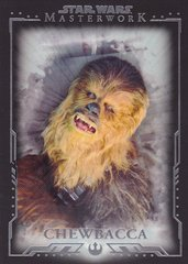 2015 Topps Star Wars Masterwork Base card #9 Chewbacca