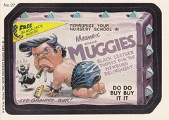 "1985 Topps Wacky Packages Sticker # 27 ""Muggies"" Puzzle Back"
