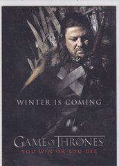 Game Of Thrones Season 1 You Win Or You Die card SP1 Winter Is Coming