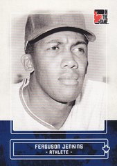 Ferguson Jenkins 2011 In The Game Canadiana base card #27 Blue parallel PR /50