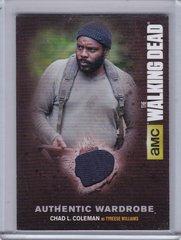 Walking Dead Season 4 Part 1 Chad L Coleman as Tyreese Wardrobe card M07