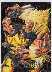 1992 Marvel Masterpieces Wolverine Vs Sabretooth Spectra Foil Insert card 3-D