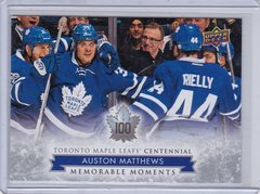 Auston Matthews 2017-18 UD Toronto Maple Leafs Centennial card #200