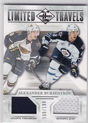 Alexander Burmistrov 2012-13 Limited Hockey Limited Travels Jersey card TD-AB #d 109/199
