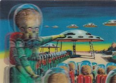 2012 Topps Mars Attacks Heritage 3-D Lenticular Insert card #1 of 5