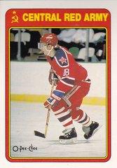 Sergei Fedorov 1990-91 O-Pee-Chee Hockey Central Red Army card #19R