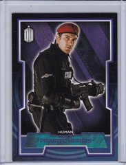 Doctor Who Trading Cards card #145 Private Harris Purple Foil #d 13/99 2015 Topps