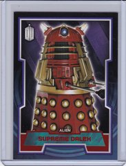 Doctor Who Trading Cards card #60 Supreme Dalek Red Foil #d 28/50 2015 Topps