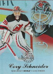 Cory Schneider 2014-15 Fleer Showcase Hockey card ROW 2 SEAT 30