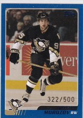 Aleksey Morozov 2003-04 Topps Hockey card #74 Blue Parallel #d 322/500