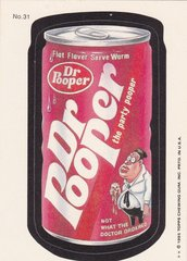 "1985 Topps Wacky Packages Sticker # 31 ""Dr Pooper"" Puzzle Back"