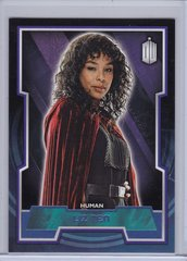 Doctor Who Trading Cards card #137 Liz Ten Purple Foil #d 06/99 2015 Topps