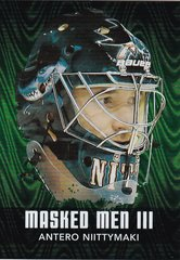 Antero Niittymaki 2010-11 Between The Pipes Masked Men 3 card MM-03