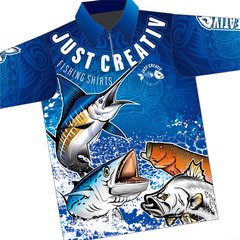 JUST CREATIV - FISHING SHIRT - Blue
