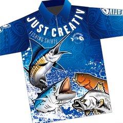 JUST CREATIV - FISHING SHIRT - Blue