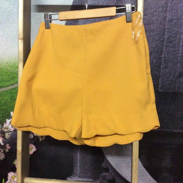 MUSTARD HIGH WAISTED SHORTS   clothes fashion gifts