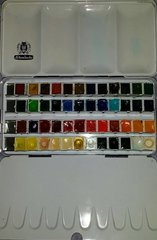 Schmincke Horadam Aquarell Watercolor Half Pan Set, 48 Colors