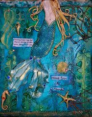 *All Money Goes to Charity* Mixed Media Mermaid - Lessons From A Mermaid