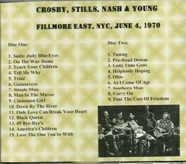 Crosby Stills Nash And Young  Tour