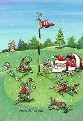 Santa On The Green Christmas Cards