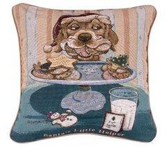 """Santa's Little Helper"" Christmas Decorative Tapestry Pillow"