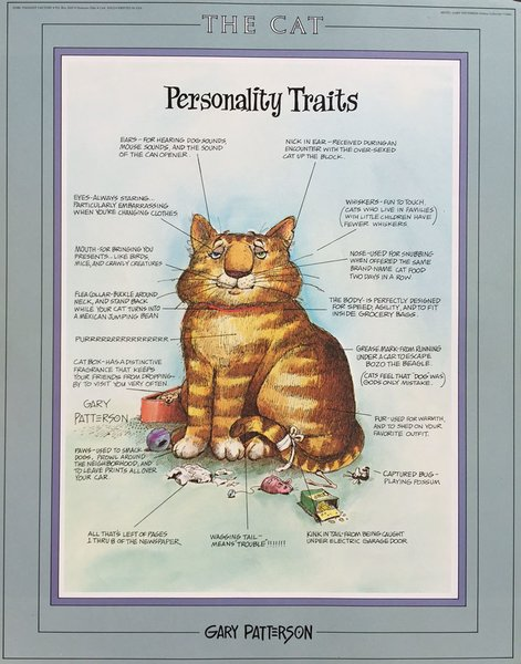 The Cat Personality Traits Open Edition Print By Gary