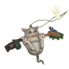 """Hang in There"" Comical Cats Ornament"